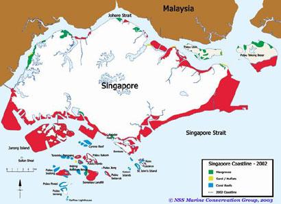 Pulau Hantu A Celebration Of Marine Life Maps Of Singapore - Singapore map 1990